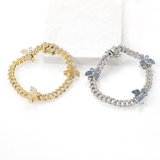 18cm Mini butterfly charm Bracelet