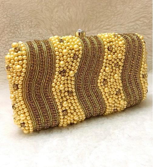 Yellow  Beaded Purse