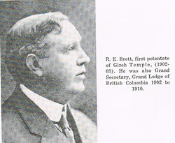 Gizeh's first Potentate R Brett 1902