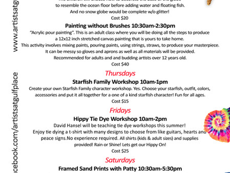 Summer Art Workshops and Classes!