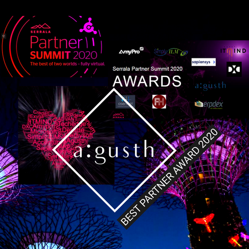 "A:gusth bags ""Best Partner"" award"