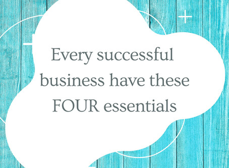 Every successful business have these 4 essentials