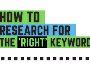 How to research for the 'Right' keyword