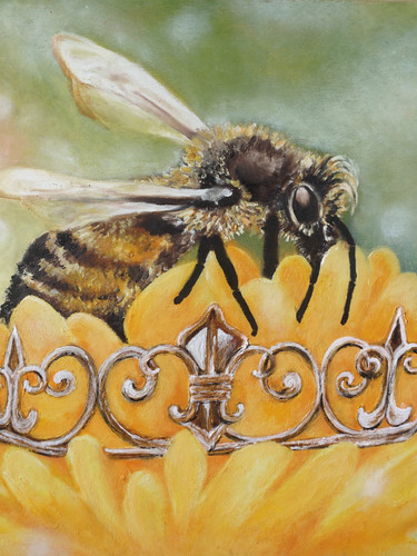 11x14 Queen Bee Commission art