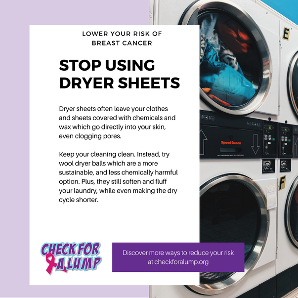 Stop using dryer sheets