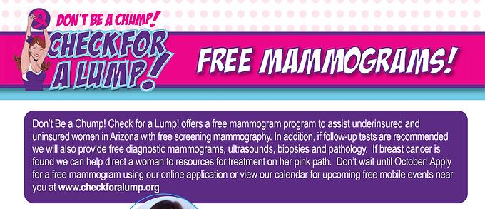 Free Mammograms!