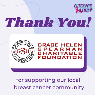 Thank You Grace Helen Spearman Charitable Foundation!