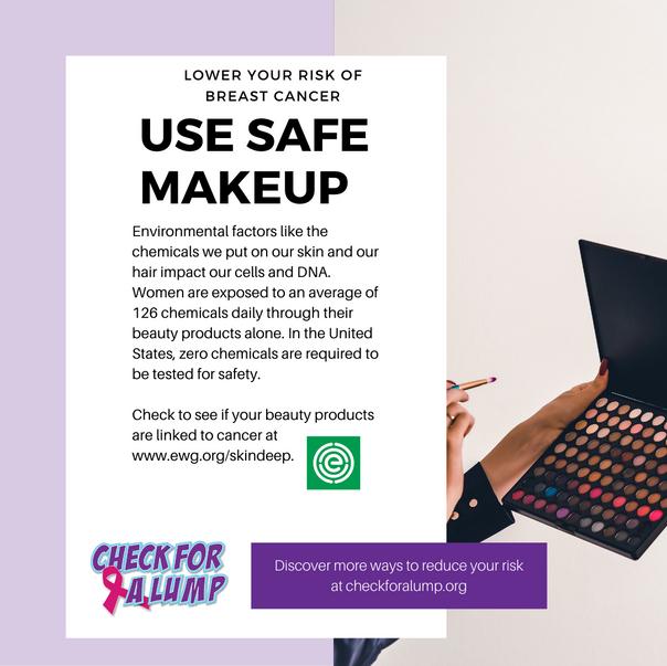 Use safe makeup