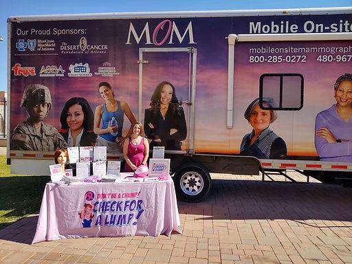 Wonderful day providing 13 women with free mammograms