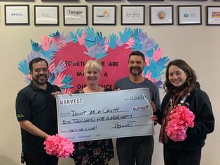 Harvest HOC donates $6,540!!!