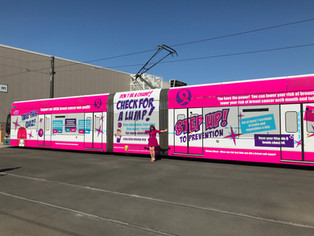 Arizona Oncology, Susan Nunez, Blue Media and Valley Metro donated our pink train!