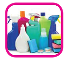cleaning, clean, spray bottle, sponges, cleaning tools, products, tidy, hazard, safety rating, ewg, non-toxic, baking soda, vinegar