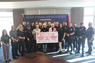 Mesa Police Department Donates $5,555!!!