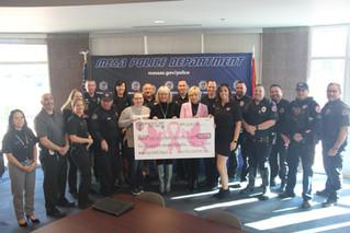 Mesa Police Department Donates $5,555!!!
