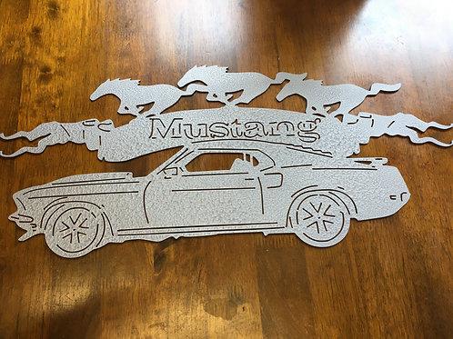 Mustang Car Sign