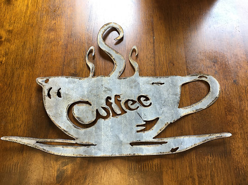 corrugated Coffee Cup Sign