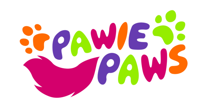yvette pawie paws logo_color fondo negro
