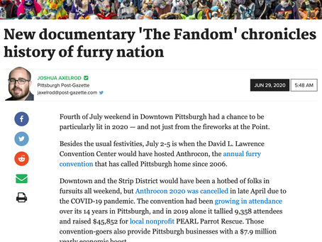 The Fandom is featured in the Pittsburgh Post-Gazette!