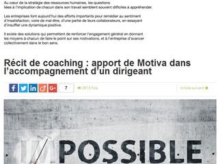 Récit de coaching : apport de Motiva dans l'accompagnement d'un dirigeant