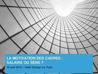 Conférence : La motivation des cadres, salaire ou sens ?