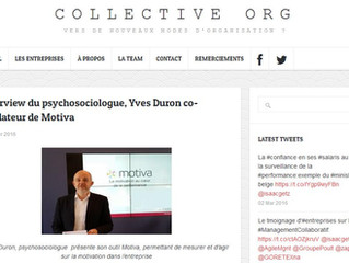 Interview du psychosociologue, Yves Duron co-fondateur de Motiva par Collective Org