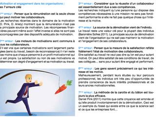 Motivation et engagement dans les organisations : les 7 erreurs clés