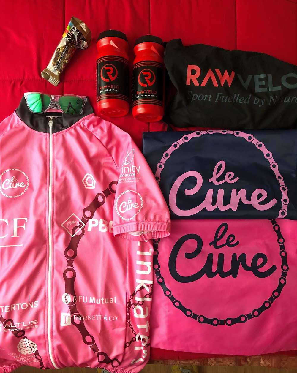 cycling kit and sports nutrition products
