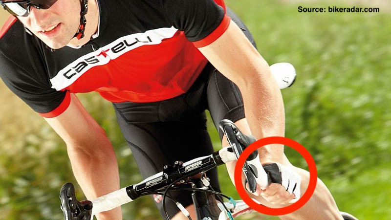 close up of a man cycling