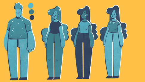Character designs for the short film 'Alan's Story'
