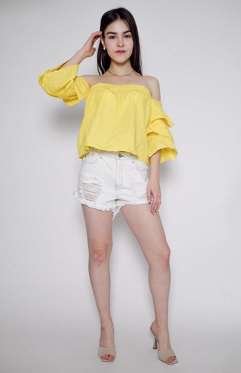 Żółta koszula hiszpanka