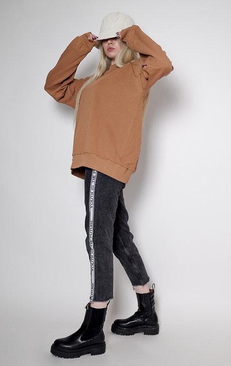 Spodnie z paskiem bo boku