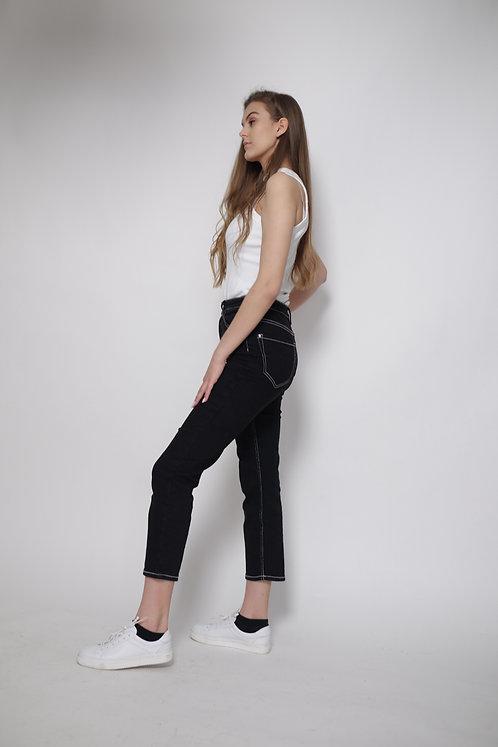 Spodnie z białą nitką