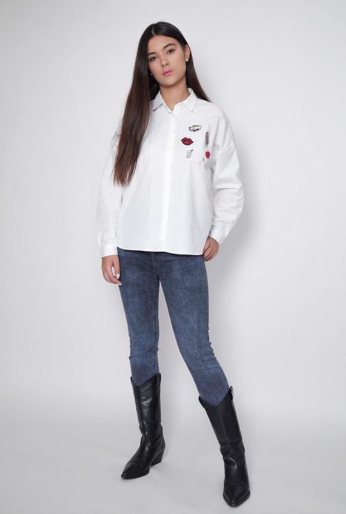 Koszula white patches
