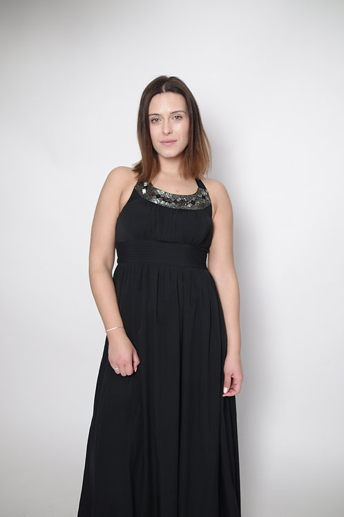 Sukienka maxi z ozdobnym przodem