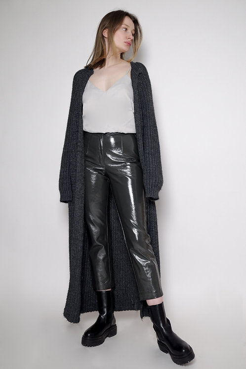 Spodnie ze sztucznej skóry