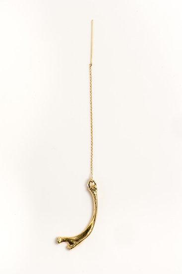 YESTERDAY'S OVER thread bone earring (single) gold