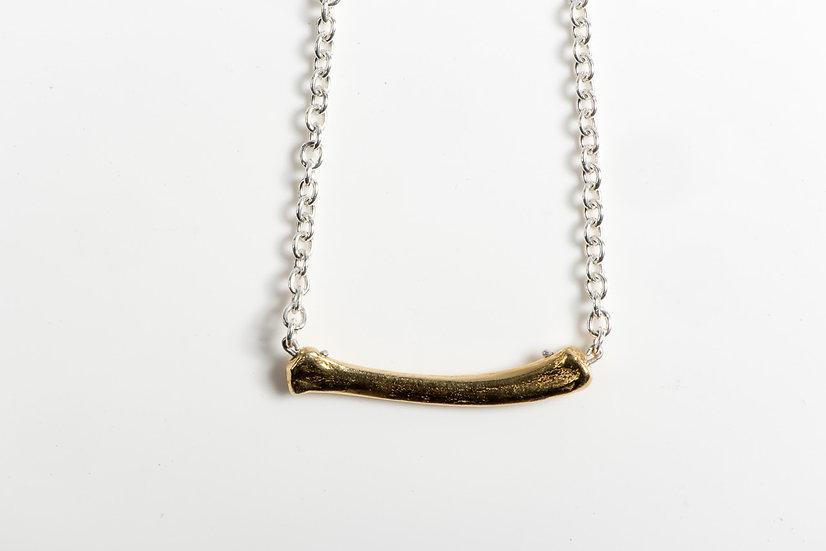 THE BASTARD bone choker silver & gold