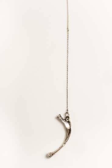YESTERDAY'S OVER thread bone earring (single) silver