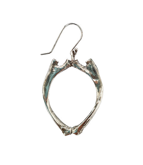 BOUND BONE EARRINGS silver