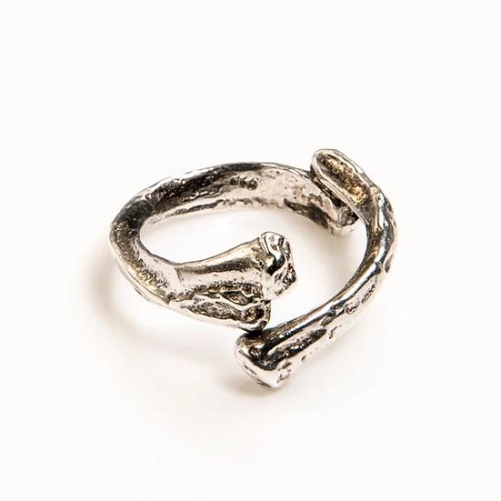 BONE STACKER RING silver