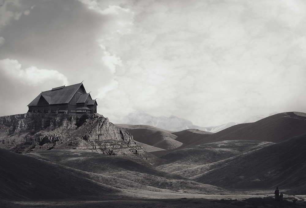 Foto von Amede Ackermann. Haus der Flammen ist ein Foto zum Gedicht.