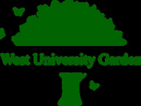 West University Gardens gets a spa treatment!