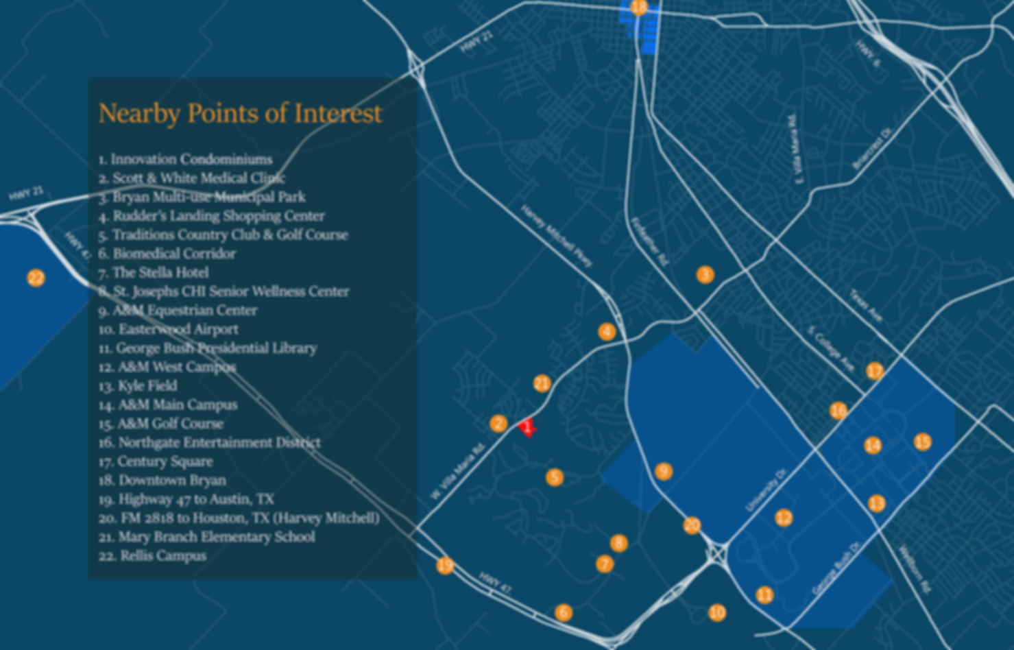 Points Of Interest Map