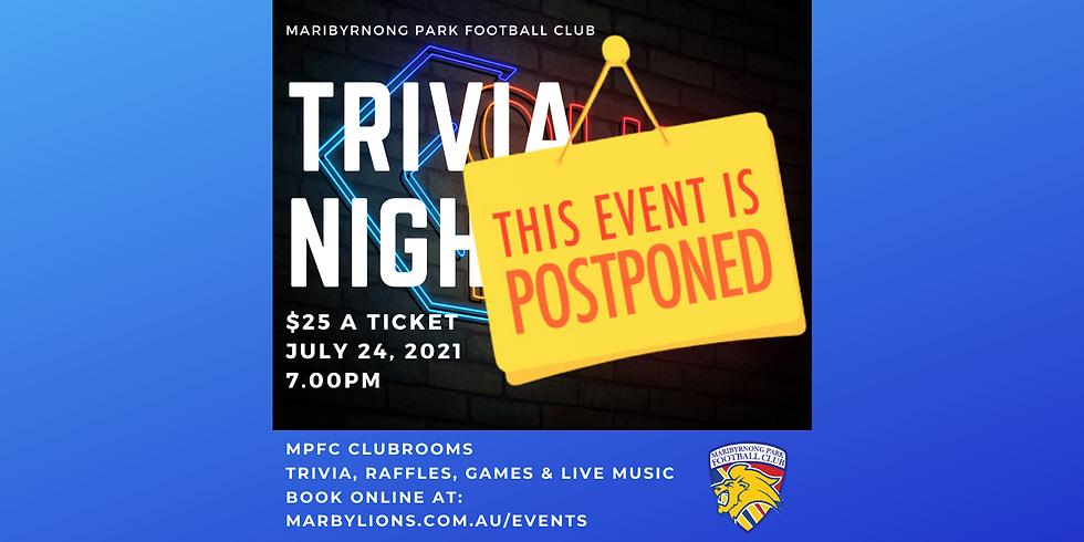 Trivia Night - Postponed