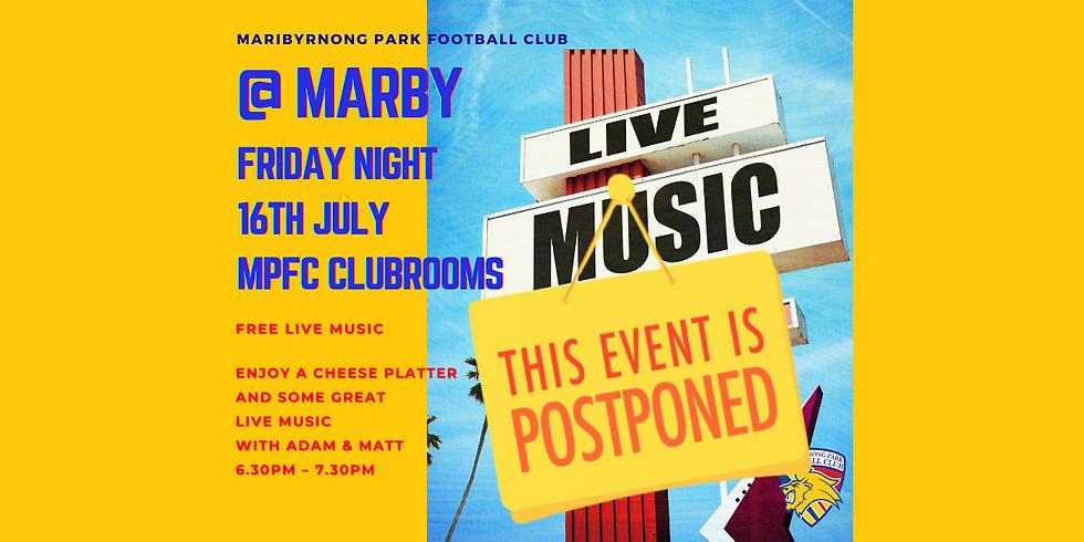 Live Music - Postponed