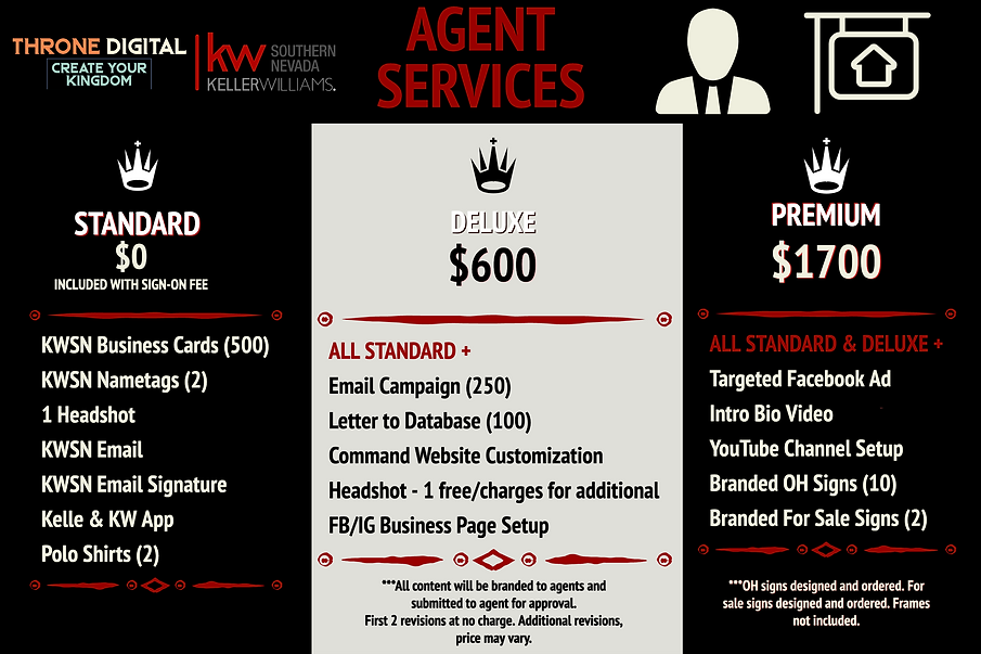 THRONE Pricing - Agent Services PRINT FI