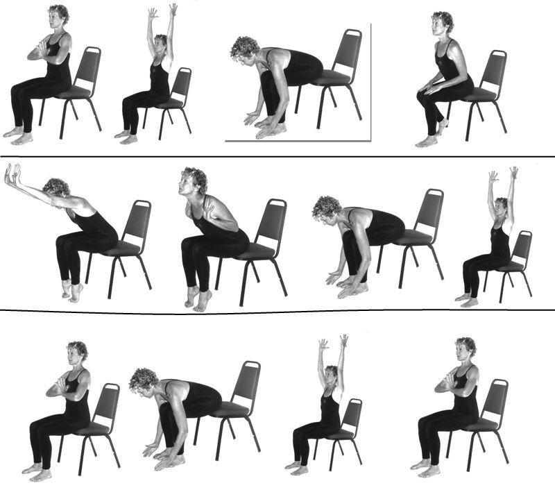Yoga am Stuhl