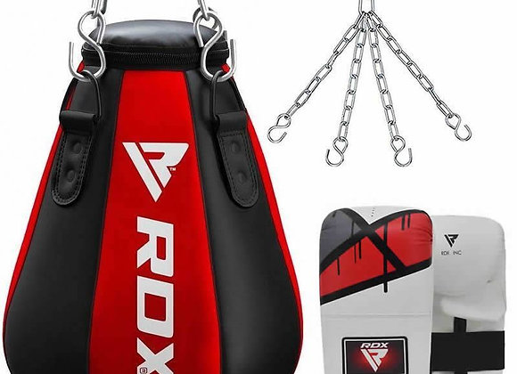 RDX Maize Punch Bag & Gloves Set with Hanging Chains Red / Black / White