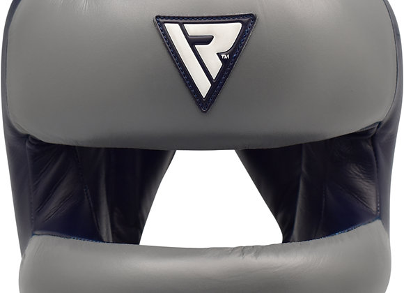 RDX O2 Full Face Nose Protection Guard Boxing Sparring Headgear Black/Gray