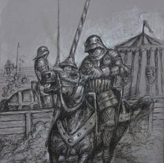 Ritter mit gotischer Rüstung